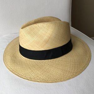 J.Crew Straw Panama Hat M/L